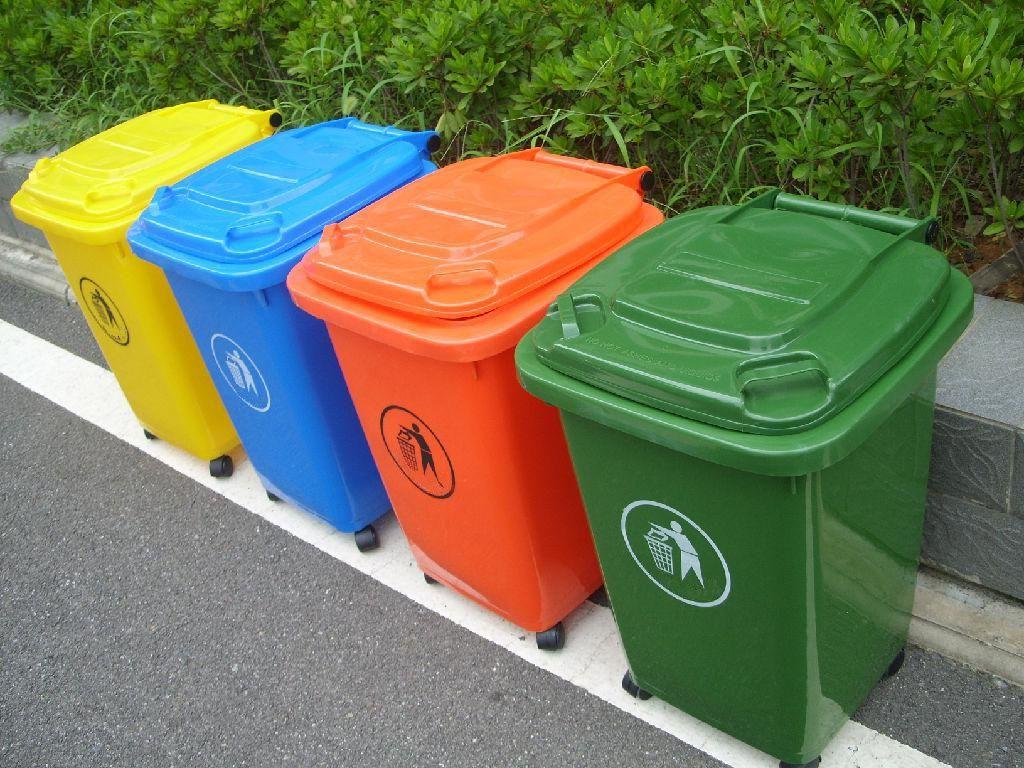 Thùng rác nhựa HDPE 240 lít GreenEco - TRN108 (Ảnh 2)