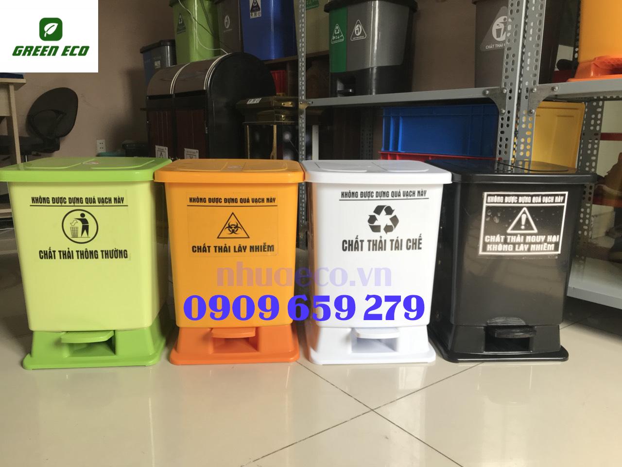 Thùng rác y tế đạp chân 30 Lít Composite GreenEco - TRYT186 (Ảnh 2)